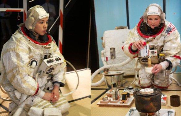 A tea service on Mars.