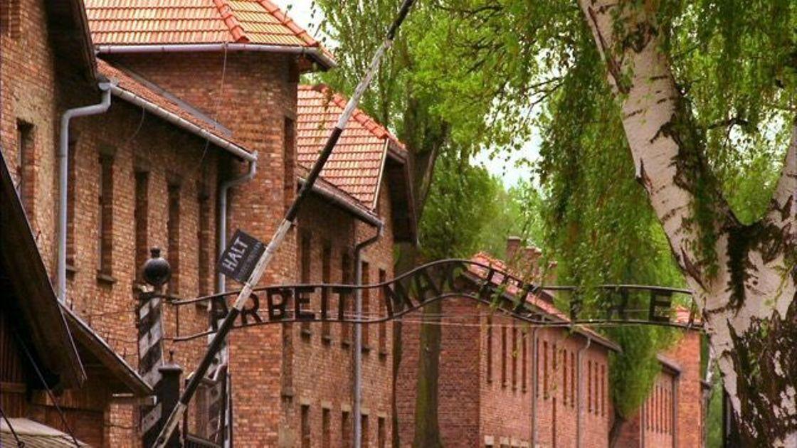 The silent sentinel that is Auschwitz.