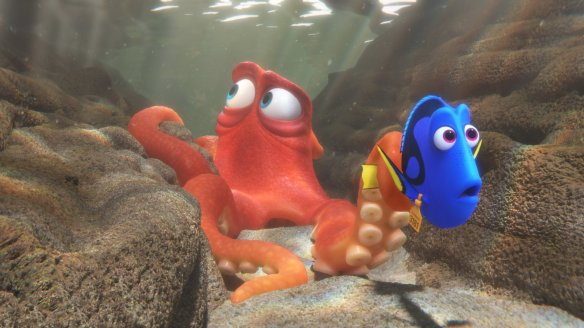 Hank and Dory are informed there is a sushi chef nearby.