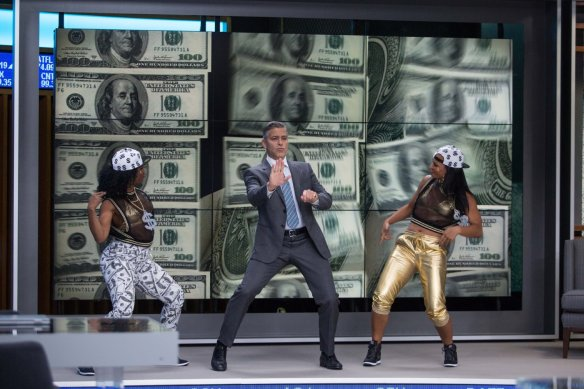 Clooney busts a move.