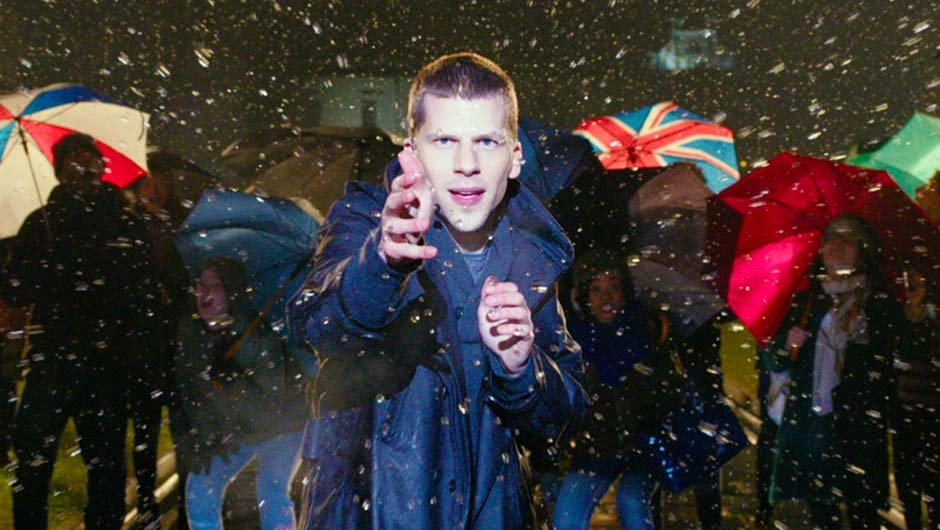 The rain falls on the just, the unjust and Jesse Eisenberg.