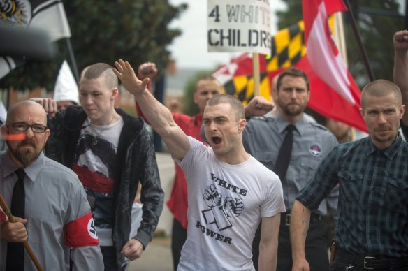 A bunch of knuckleheads...I mean, skinheads.