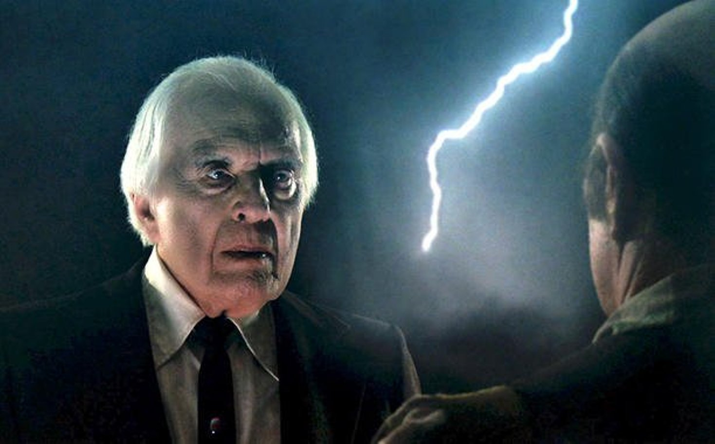 A dramatic background befits the late Angus Scrimm.