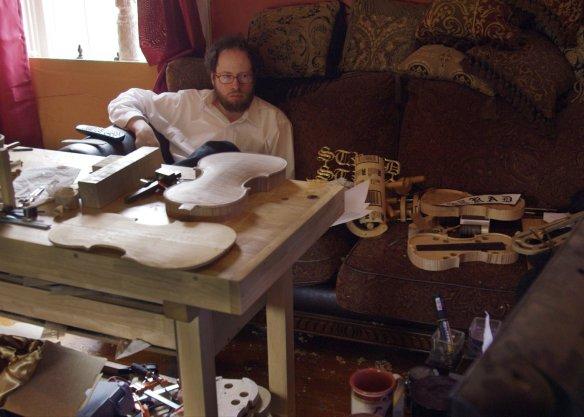 Danny Hauck in his home studio.